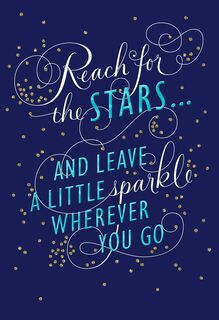 Stars and Sparkles Graduation Card for Relative,