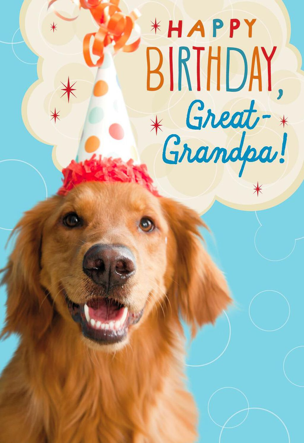 Party Dog Birthday Card For Great Grandpa Greeting Cards Hallmark