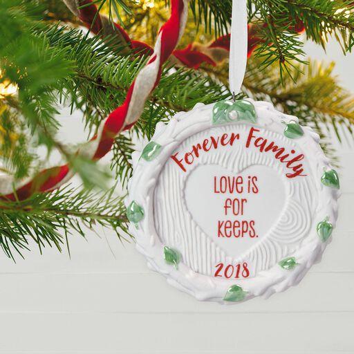 forever family 2018 porcelain ornament