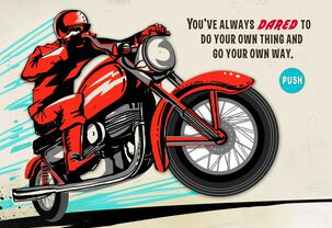 Vintage Motorcycle Musical Father's Day Card