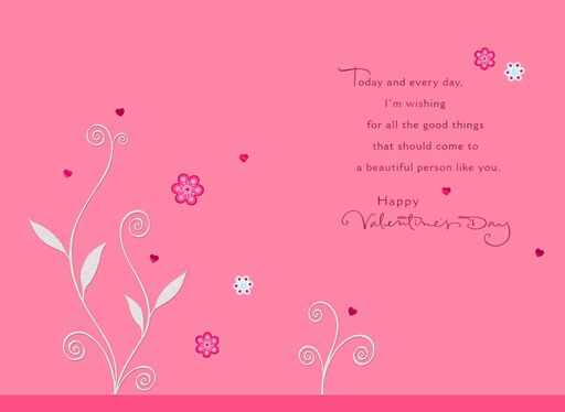 flower just for you valentine s day card