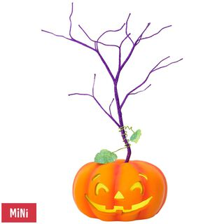 Halloween Miniature Keepsake Ornament Tree With Light,