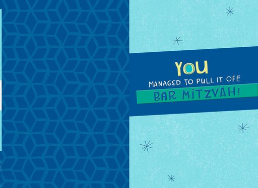 Mazel Tov and Oy Yoy Bar Mitzvah Card,