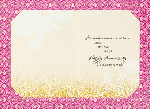 Love You More Each Day Anniversary Card,