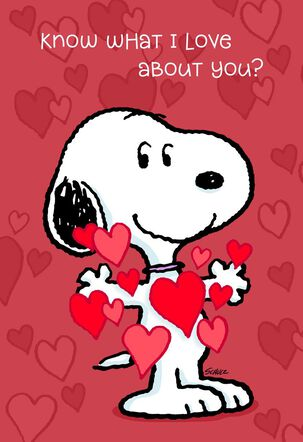 Peanuts® Love Everything About You Valentine's Day Card