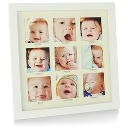 The Many Faces of Baby Picture Frame, Holds 9 Photos, , large