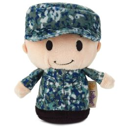 itty bittys® Blue Camo Boy Stuffed Animal, , large