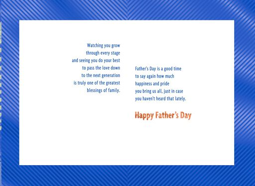 You Make Us Proud Father's Day Card for Son,