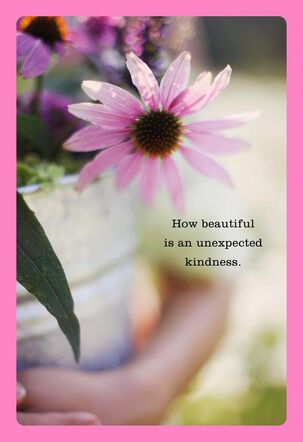 Unexpected Kindness Thank You Card