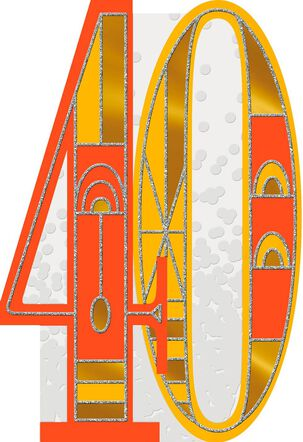 Art Deco 40th Birthday Card