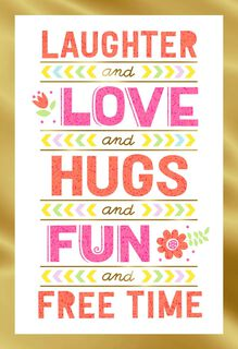 Love Laughter Hugs Mother's Day Card for Aunt,