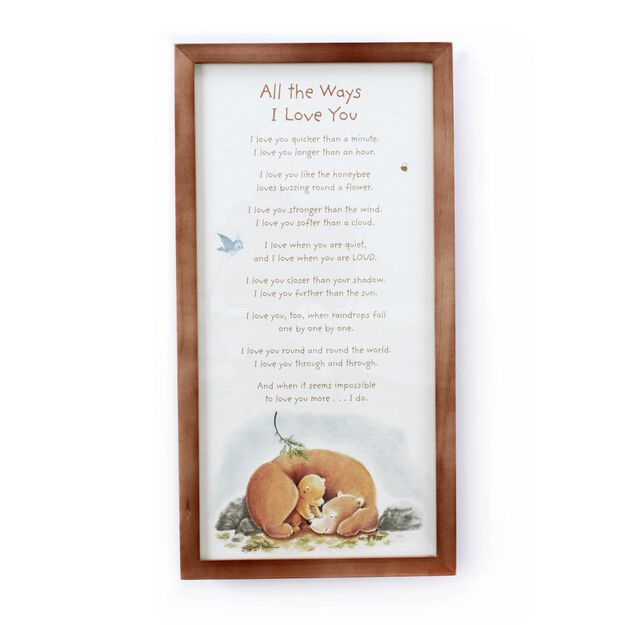 Love You More Wall Art all the ways i love you wall art - framed art & prints - hallmark