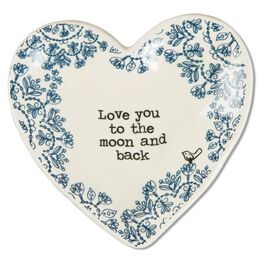 Natural Life Heart Trinket Dish Love You to the Moon, , large