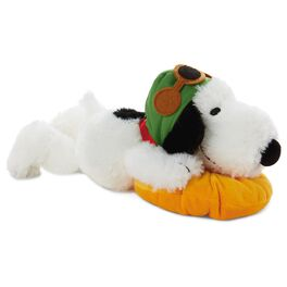 Peanuts® Flying Ace Floppy Snoopy Stuffed Animal, , large