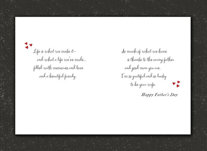 Love our life husband fathers day card greeting cards hallmark card love our life husband fathers day m4hsunfo
