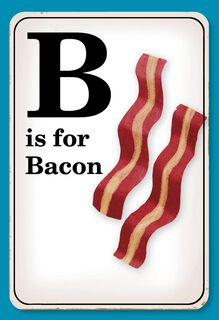 Bacon Scale Funny Father's Day Card,