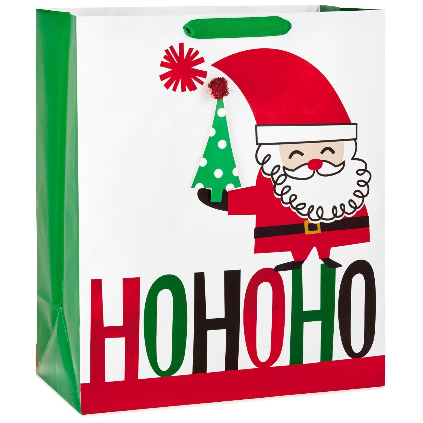 Ho Ho Ho Modern Santa Jumbo Christmas Gift Bag, 20\