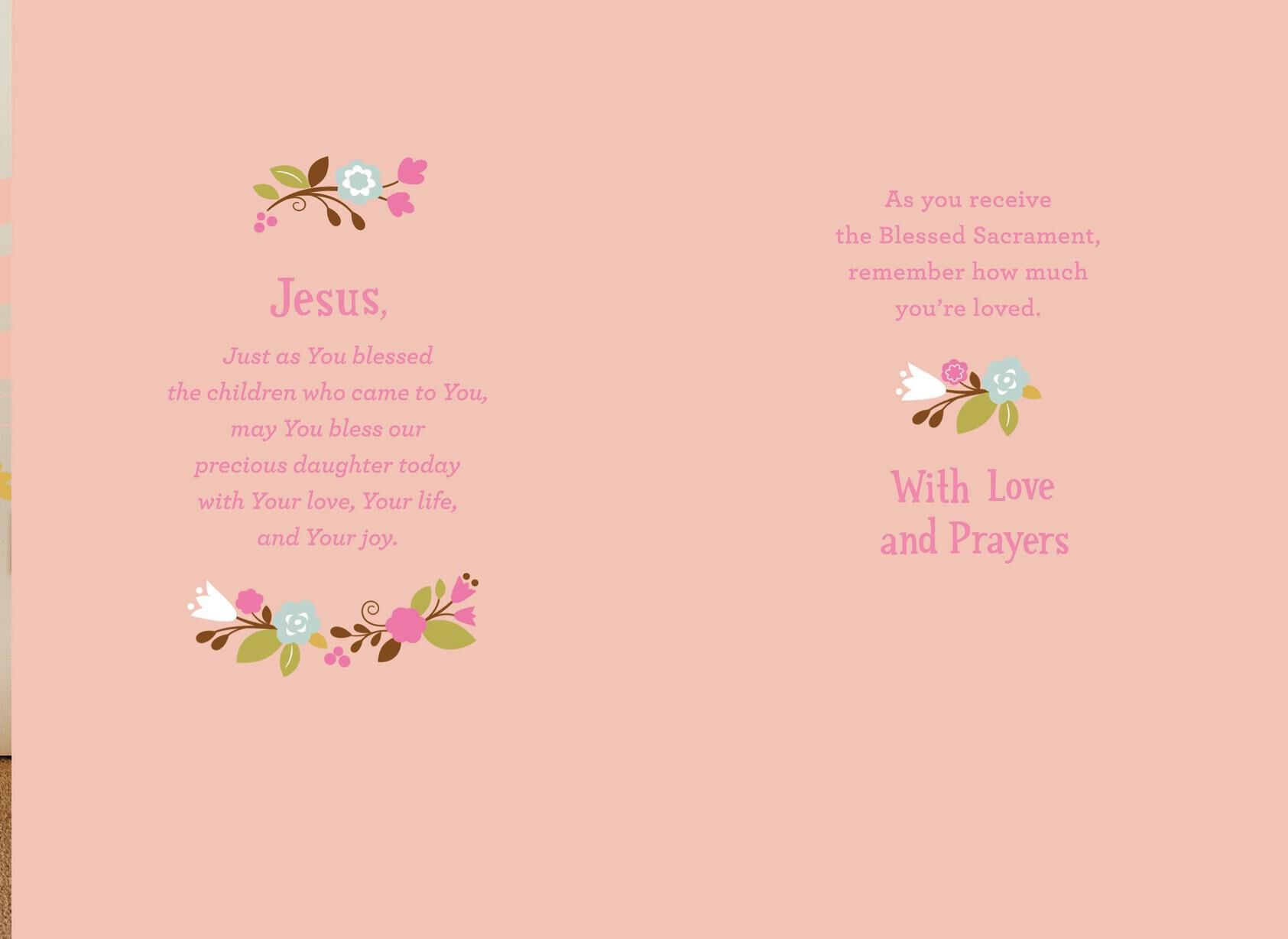 It's just a photo of Printable First Communion Cards for message