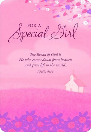 Special Girl First Communion Card