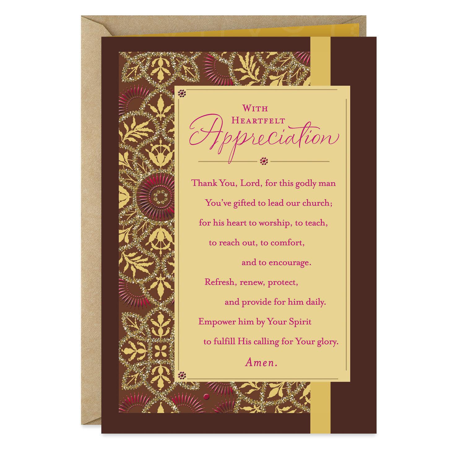 photo relating to Pastor Appreciation Cards Free Printable known as Clergy Pastor Appreciation Hallmark