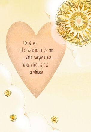 Golden Heart and Sun Sweetest Day Card