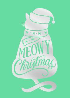 Santa Cat Christmas Card,