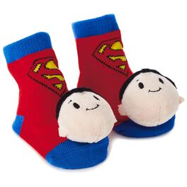 SUPERMAN™ itty bittys® Baby Rattle Socks, , large