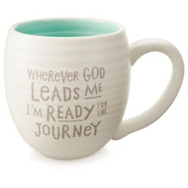 Wherever God Leads Me Ceramic Mug, 14 oz., , large