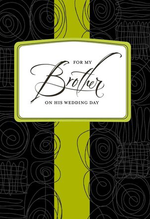 Squiggly Lines Wedding Card for Brother