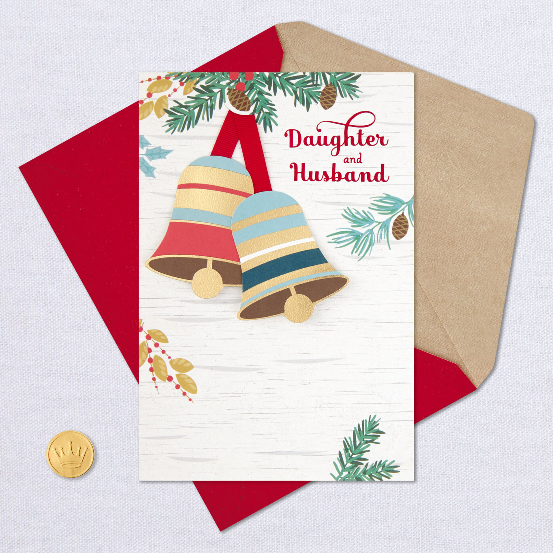 Grateful For You Both Christmas Card For Daughter And Husband Greeting Cards Hallmark