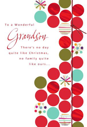 Happiness is You Christmas Card for Grandson