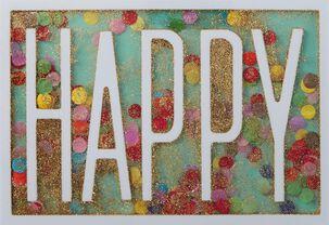 A Million Happy Wishes Confetti Birthday Card