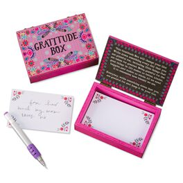 Natural Life Wood Prayer Box Gratitude Pink, , large