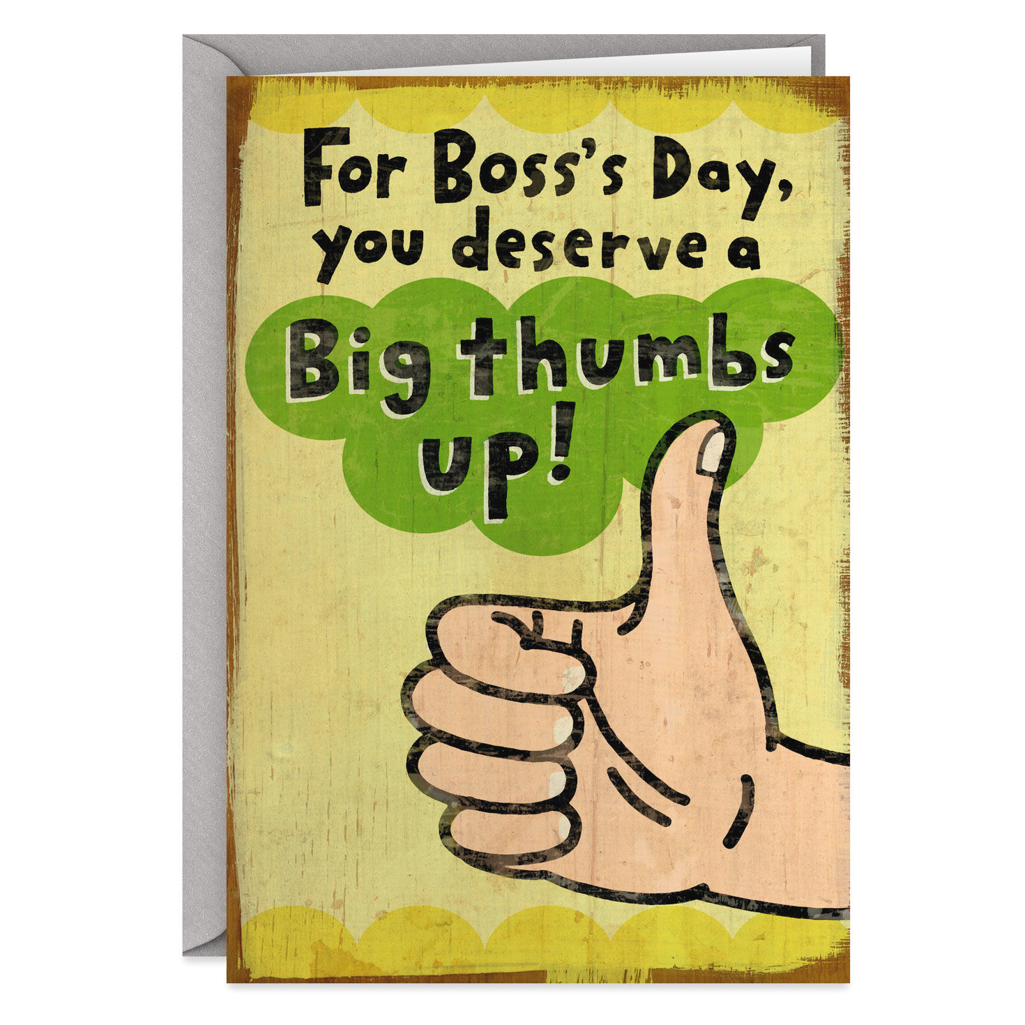 graphic about Bosses Day Cards Printable named Substantial Thumbs Up Humorous Bosss Working day Card