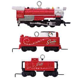 LIONEL® Toymaker Santa Express Mini Train Ornaments, Set of 3, , large