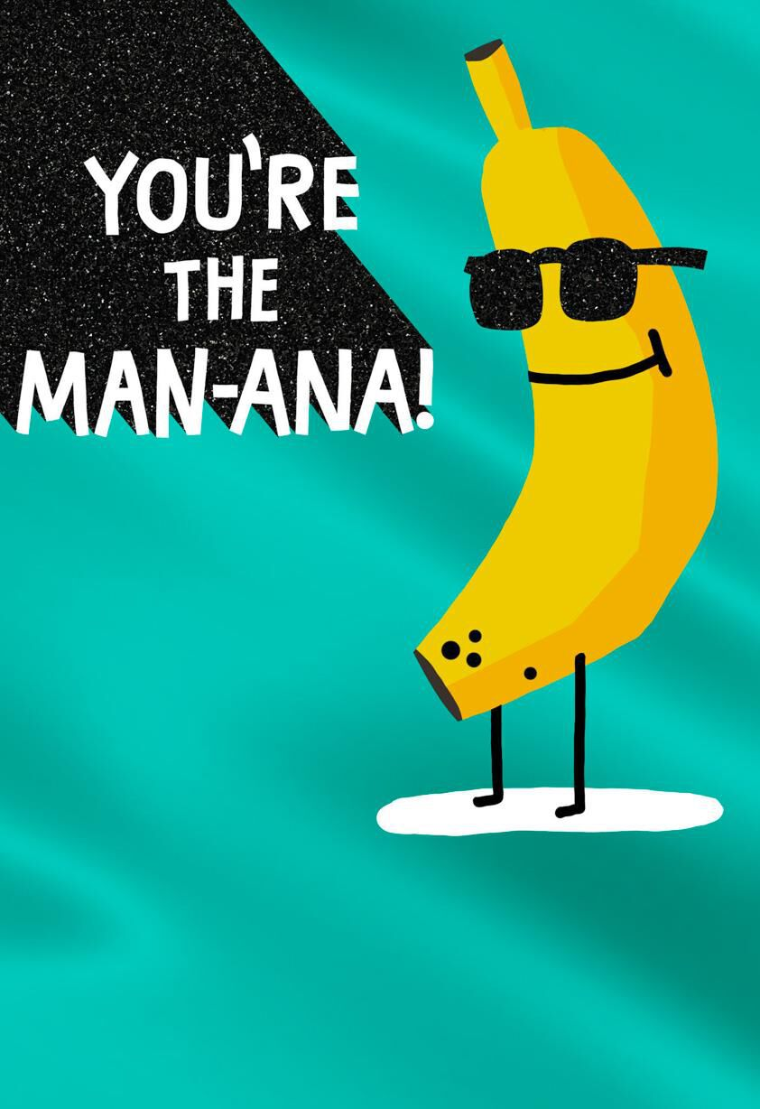 bananas love you bunches funny father's day card