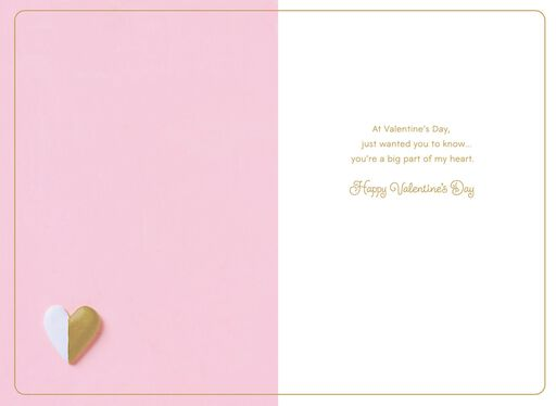 Painted Hearts on Pink Valentine's Day Card for Sister,