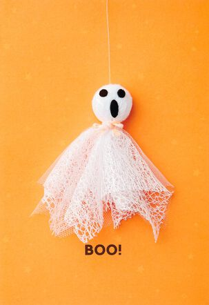 Boo Ghost Halloween Card