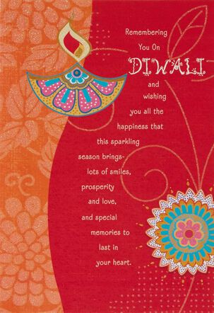 Remembering You on Diwali Card