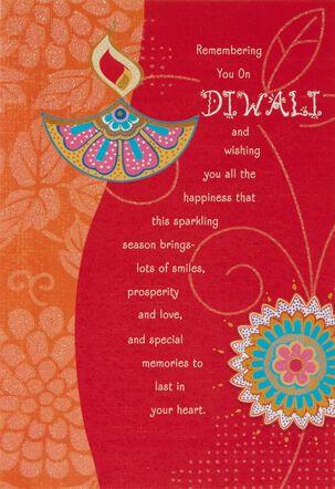 Remembering You on Diwali Card
