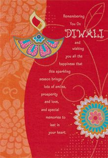 Remembering You on Diwali Card,