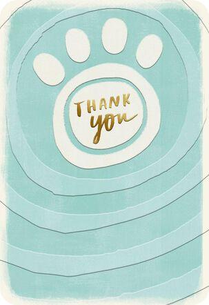 Paw Print Pet Caregiver Thank You Card