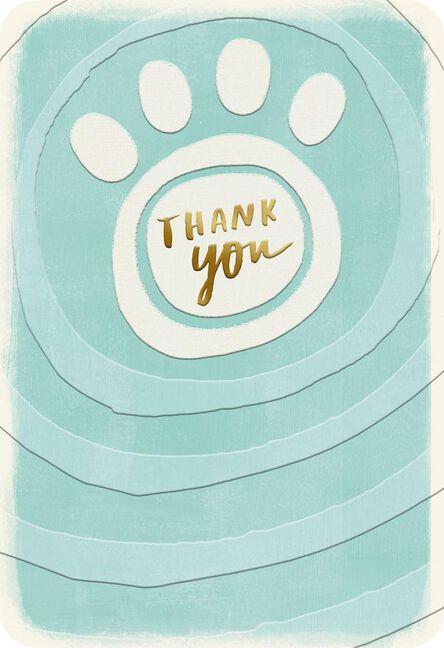paw print pet caregiver thank you card greeting cards hallmark