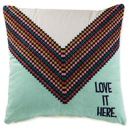 "Love It Here Pillow, 14"" Square, , large"