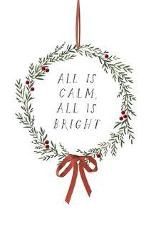 All Is Calm Christmas Card,