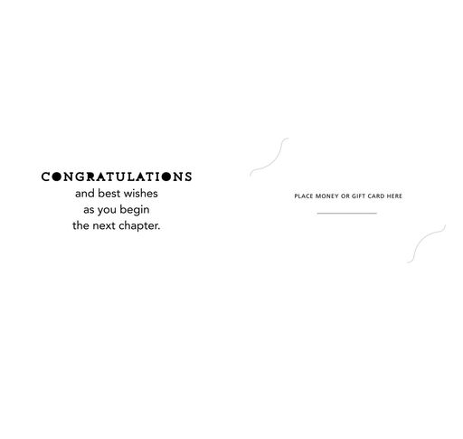 Life Is a Story Money Holder Graduation Card, Pack of 10,