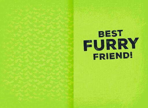 Best Furry Friend Halloween Card,