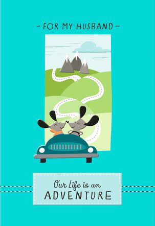 On the Road Trip of Life Anniversary Card for Husband