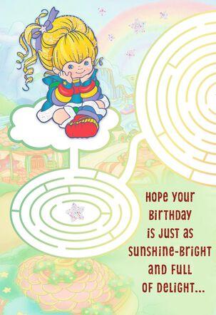 Rainbow Brite Maze Birthday Card