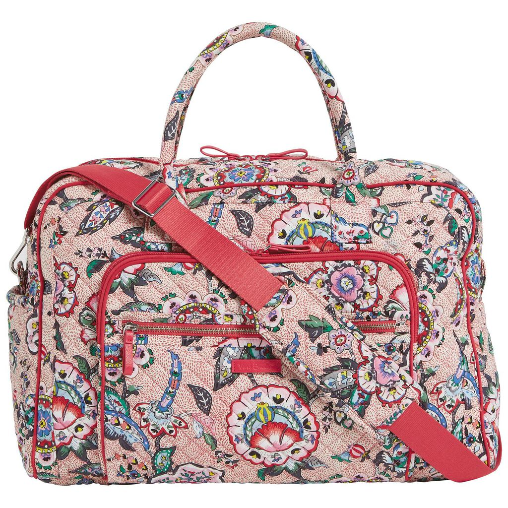 51f38d8513 Vera Bradley Iconic Weekender Travel Bag in Stitched Flowers ...